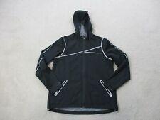 Spyder Jacket Womens Medium Black Gray Hooded Full Zip Outdoors Coat Ladies *