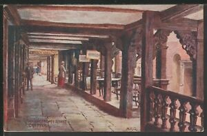 The Rows Watergate Street Chester *1243 A R Quinton Vintage Printed Postcard