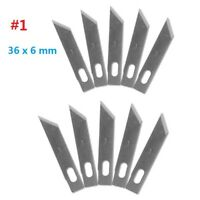 10pc #1 Replacement Hobby Classic Fine Point Blades high steel Craft Knife