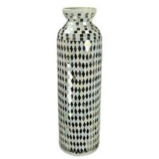 "19.75"" Mosaic Glass Vase Mosaic Flower Vase Mosaic Tall Vase Decorative Vase"