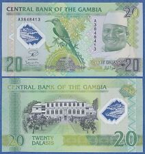 Gambia 20 Dalasis P 30 COMMEMORATIVE 2014 (2015) UNC Polymer, Low Shipping!