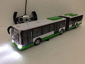 LONDON RADIO REMOTE CONTROL SINGLE DOUBLE DECKER BUS GREEN & WHITE LED LIGHT