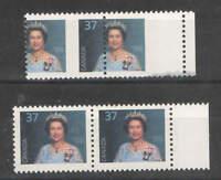 Canada Sc 1162 RARE  EFO 37c Queen Elisabeth II Misperf Pair UMM MNH
