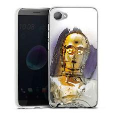 HTC Desire 12 Silicona Funda Case Handy-c3po-starwars 8