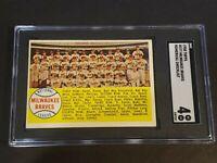 1958 Topps #377 Milwaukee Braves Numerical SGC 4 Newly Graded & Labelled PSA BVS