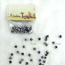 Doll Bjd 1/6 Dollfie Dress Making DIY Crafts Metal Mini Cone Rivet 4mm Dark Grey