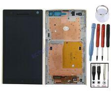 ECRAN LCD VITRE TACTILE SUR CHASSIS BLOC COMPLET POUR SONY XPERIA S LT26i BLANC
