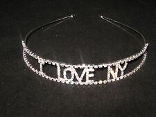NFL*I LOVE NY*NEW YORK GIANTS,  NEW YORK JETS Ladies/Girls Rhinestone Headband