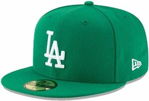 Los Angeles Dodgers MLB Authentic New Era 59FIFTY Fitted Cap Green
