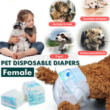 10PCS Pet Dog Nappy Diapers Disposable Puppy Female Sanitary Pants