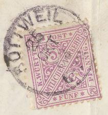 """WÜ 1883 5 Pf Dienstmarke """"Amtlicher Verkehr"""", ABART: siehe obere Rahmenlinien R!"""