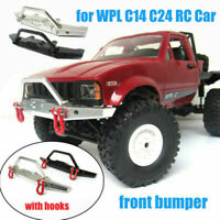 Upgrade Metal Front Bumper Hook Guard Spare Parts for 1/16 WPL C14 C24 RC Truck
