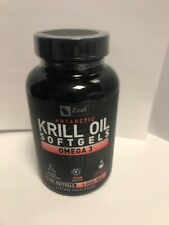 Antartic Krill Oil with 1000mg w/ Astaxanthin (180 Softgels)Exp 7/2021