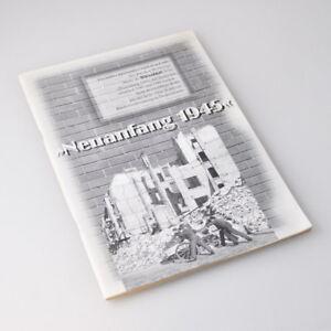 Neuanfang 1945 - Sonderdruck aus Börsenblatt - Buchhändlertage Stuttgart 1995
