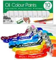 10 x 6ml Oil Colour Paint Set Art Craft Paints Tubes Assorted Colour Painting BN