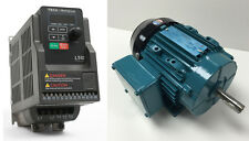 MOTOR & VFD PACKAGE- .50 HP 3600 RPM TEFC BROOK MOTOR WITH 1 HP 230V TECO DRIVE