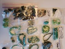 Lot of Green Crystal and Glass Beads