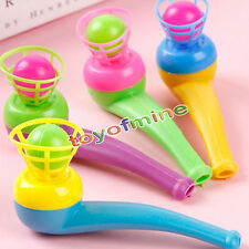 2pcs Cute Little Toy Tobacco Pipe Blowing Nostalgia Suspended Ball Childhood Toy