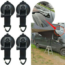 New listing 4* Heavy-Duty Suction Cups Tie Downs Hooks Strong For Car Awning Camping Tarp