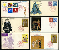 Japan Lot of 15 First Day Stamp Covers