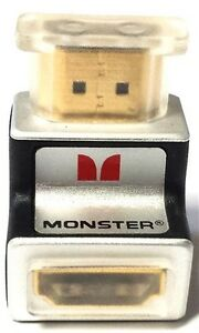 Monster Cable 90 Degree Angle HDMI Adapter - Full HD 1080p for HDTV