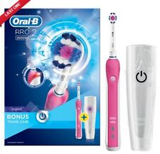 Braun Oral-B Pro 2 2500W Elektrisch Wiederaufladbar Zahnbürste Gift Hülle - Pink