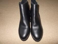 Ladies  Leather Ankle Boots Size 8 Block Heel Zip NEW LOOK Boot  RRP £39.99