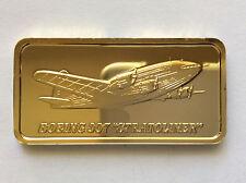 1976 Hamilton Mint Boeing 307 Stratoliner Silver Art Bar HAM-676G A5018
