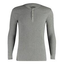 Levi's Levis 300ls Long Sleeve Henley 1p-vestaglia Uomo Grau (middle Grey (s8a)