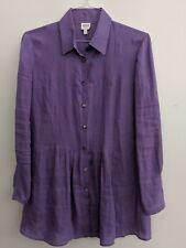 Armani Collezioni Linen Tunic/Dress Purple Lavender Made in Italy sz 10