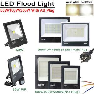 LED Flood light 50/100/200/300W IP65 Outdoor Spotlight 240V cool white Garden AU