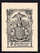 42)Nr.044-EXLIBRIS, E. Krahl, Abt zu Seitenstetten, Eule, Heraldik / heraldry