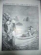 Maxim Gorky at Capri Italy 1910 print ref AN