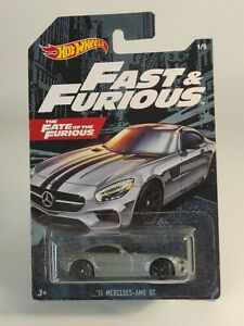 2020 Hot Wheels Fast And Furious '15 Mercedes AMG GT Gray ©M