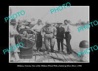 OLD LARGE HISTORIC PHOTO MILDURA VICTORIA VIEW OF THE RIVER DIVER c1906
