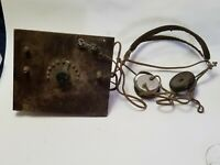 100 year old antique crystal radio 1920
