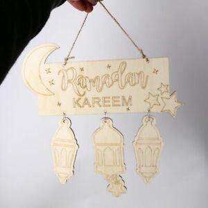 Eid Mubarak Muslim Islam Ramadan Decorations Hanging Lantern Pendant Plaque Sign