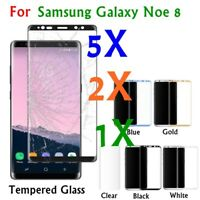 1/2/5* Full Cover Screen Protector Tempered Glass For Samsung Galaxy Note 8 Lot