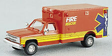 Trident HO Scale Chevrolet 1-Ton Van Emergency Ambulance Fire/Rescue
