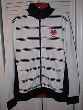 Zoo York Drag Strip Track Jacket Wht/Blue/Red Men's Size Large NWT! Skate MX BMX
