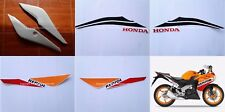 Honda CBR125R Left & Right Rear Fairing Panel Repsol White + Decals 2011-2017