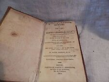 "Antique Book ""Memiors of the Life of Martha Laurens Ramsay"" HC 1814"