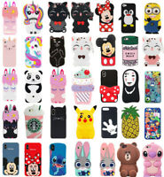 Case Cover For Touch 5 6 iPhone 4S SE 7 8Plus Cute 3D Cartoon Silicone Kids Skin