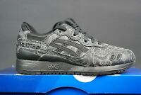 WMNS ASICS GEL LYTE III 3 SIZE UK-3.5 EU-36 BLACK TRAINERS DS RARE REFLECTIVE