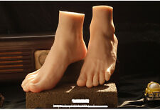 Pair High Quality Silicone Feet Model Male Feet Models Men's Foot Mannequin