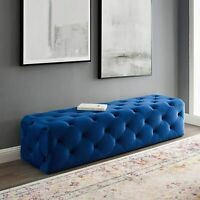 Anthem 72 Tufted Button Entryway Performance Velvet Bench New