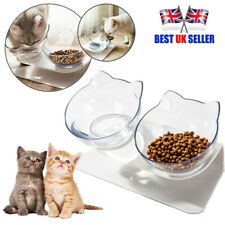 More details for pet non-slip double bowls raised stand dog cat food water feeding station