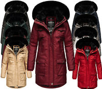 Navahoo Damen Winter Jacke Parka FVS4 Winter Mantel warm Kunstfell Anorak TINIIS
