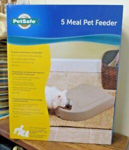 New! PetSafe Programable 5 MEAL Pet Feeder - PFD11-13707  (7073)