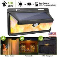 158 LED Solar Power PIR Motion Sensor Wall Light Outdoor Garden Lamp Waterproof